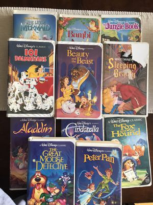 Disney VHS Movies The Classics for Sale in Puyallup, WA