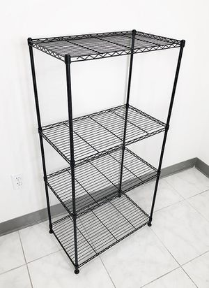"New in box $35 Small Metal 4-Shelf Shelving Storage Unit Wire Organizer Rack Adjustable Height 24x14x48"" for Sale in Montebello, CA"