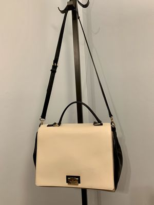 Kate Spade Leather Satchel/Handbag, Cream & Black for Sale in Alexandria, VA
