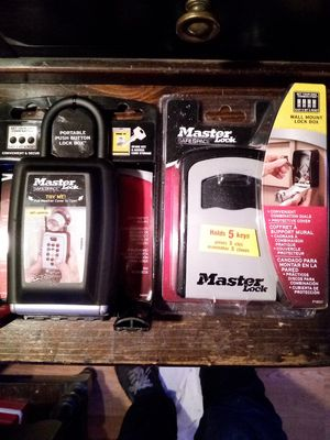 Brand New Master Lock Key Safes. Mini safe. Coded safe. for Sale in Vancouver, WA