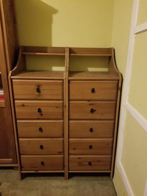 6 Drawer Tall Accent Chest/Dresser (set of 2) for Sale in West Hollywood, CA