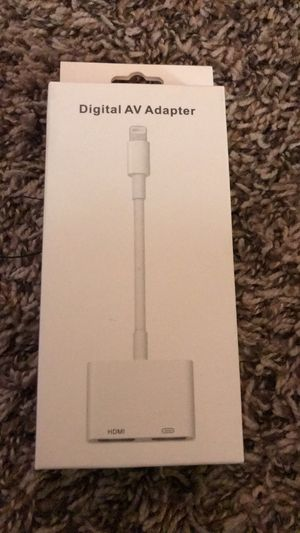 iPhone to tv adapter for Sale in Grand Prairie, TX