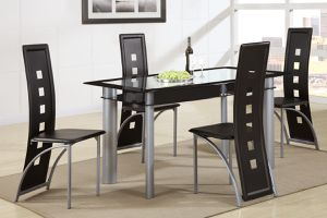 FREE DELIVERY- Brand New 5pc. Black Dining Table Set for Sale in Austin, TX