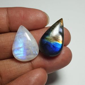 Labradorite & Rainbow Moonstone Cabochon: LRL-01-2/STK-116 for Sale in Queens, NY