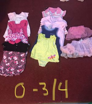 0-3 month baby girl clothes for Sale in Tonawanda, NY