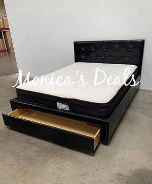 Queen storage bed & pillow top mattress $320 for Sale in Cerritos, CA