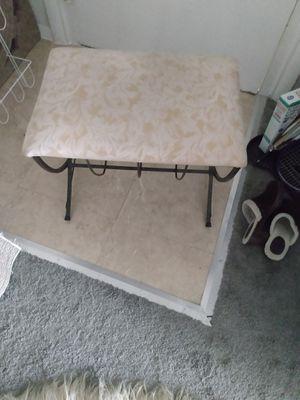 Metal base stool fabric seat for Sale in Alexandria, VA