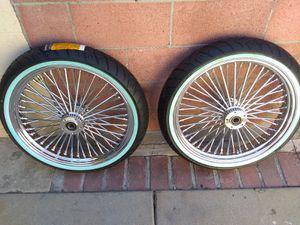 "new harley front fat spoke wheel 21""x3.5 for Sale in Bell, CA"