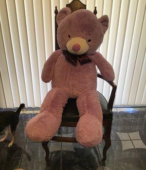 4foot tall big purple stuffed teddy bear for Sale in Phoenix, AZ