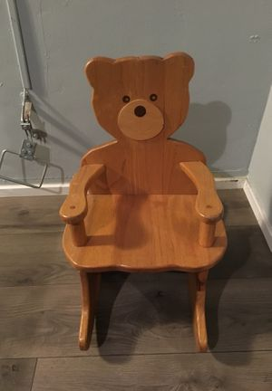 Rocking wood chair for kids for Sale in Los Angeles, CA