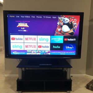 "58"" TV with FREE stand for Sale in Bowie, MD"
