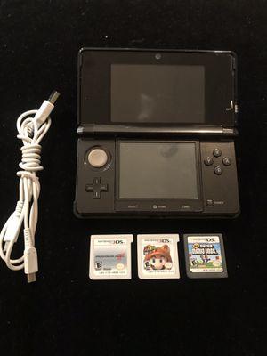 Nintendo Cosmo Black 3DS Handheld+Lot of 3 Mario Bros Games+Charger for Sale in Atlanta, GA