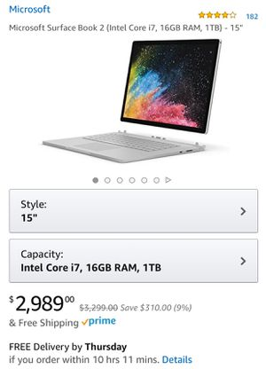 "Microsoft Surface Book 2 15"" i7 32GB 1TB 2020 Latest Version for Sale in West Caldwell, NJ"