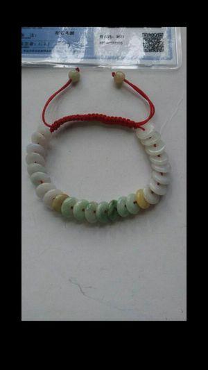 Certified genuine multicolors jade jadeist beads knitted bracelet for Sale in Richmond, CA