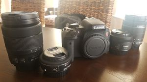 Canon rebel t6i BUNDLE for Sale in Monroe Township, NJ