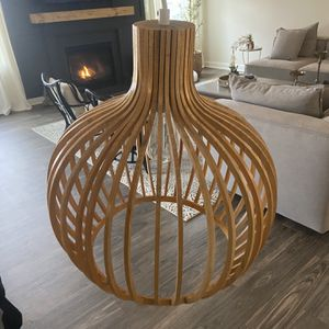 Bamboo Mid Century Pendant Light for Sale in Frederick, MD