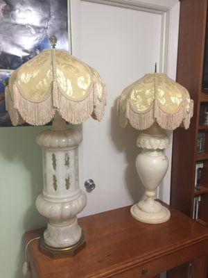 Antique alabaster lamps. for Sale in Miami, FL