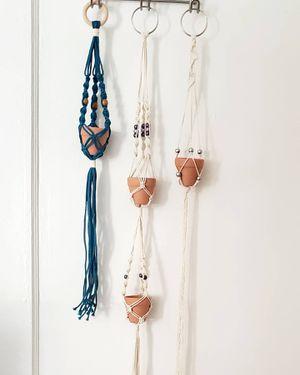 "Handmade Mini Macrame Plant Hangers with 2"" Terra Cotta Pots for Sale in Denver, CO"