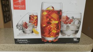 New bormioli rocco 16 pcs glassware set for Sale in Arlington, VA