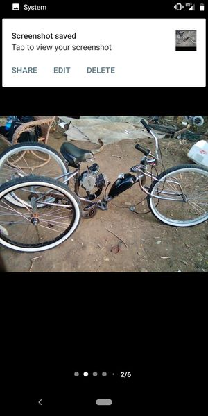 Trike with motor works good lowrider folds in half or trade it for low rider bike... for Sale in Chula Vista, CA
