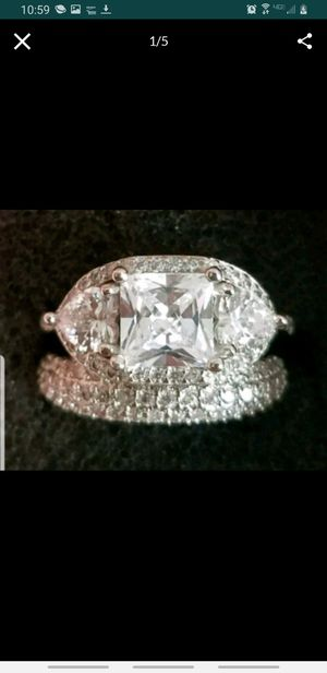 5 ctw sterling silver wedding rings for Sale in Baltimore, MD