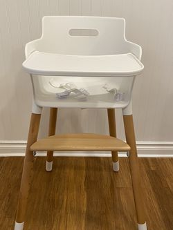 High Chair - White, Simple, Wood for Sale in Gig Harbor,  WA
