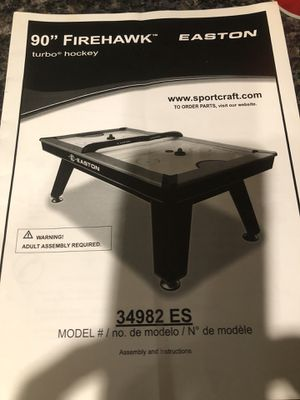 "Easton. Air hockey table. Firehawk. 90"" OBO for Sale in Wood-Ridge, NJ"