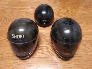 3 Vintage Motorcycle Helmets Lot Harley Davidson, Shoei, Unbranded for Sale in Cumming, GA