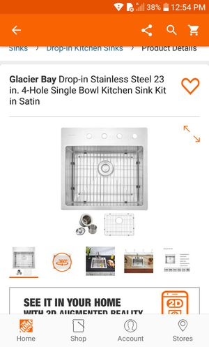 """23"""" Drop In Stainless Steel Single Bowl Kitchen Sink Brand New (Firm) for Sale in Gardena, CA"""