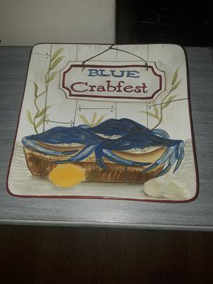 Kate MCrostie Certified International Blue Crab Fest Square Serving Plate for Sale in Virginia Beach, VA