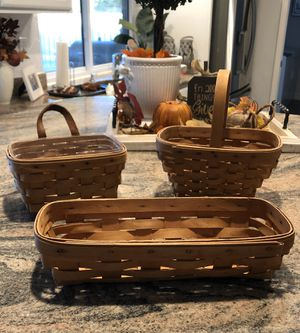 LONGABERGER BASKETS Will trade for girl toddler baby doll or toy items. for Sale in Scottsdale, AZ