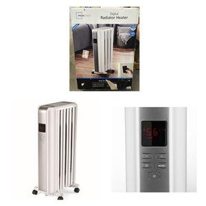 Mainstays Digital Radiator Heater, White, NY1506-18SRA for Sale in Missouri City, TX