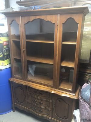 Antique dining room cabinet, China Hutch and Buffet for Sale in Taunton, MA