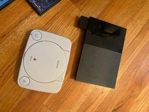 PS1 & PS2 with controllers, cables and games for Sale in Jersey City, NJ