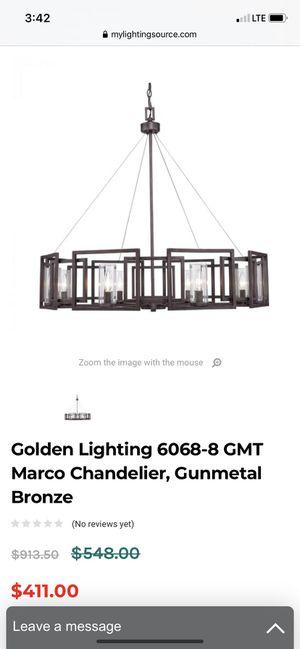 Golden Lighting - 6068-8 GMT - Marco - Eight Light Chandelier for Sale in La Habra, CA