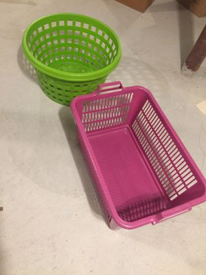 Two laundry baskets for Sale in Norton, MA