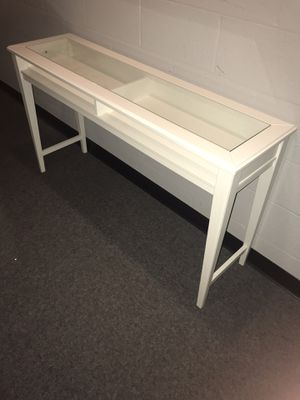 IKEA LIATORP. White and glass console table. for Sale in Washington, DC