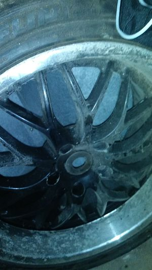5 lug black 20 inch rims as is only two for Sale in Columbus, OH