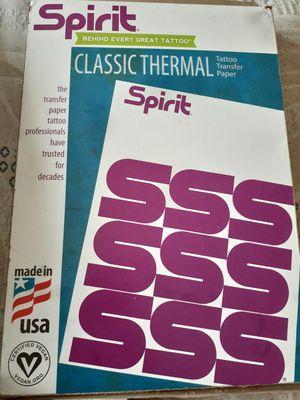 Spirit classic thermal tattoo transfer paper for Sale in Franconia, VA