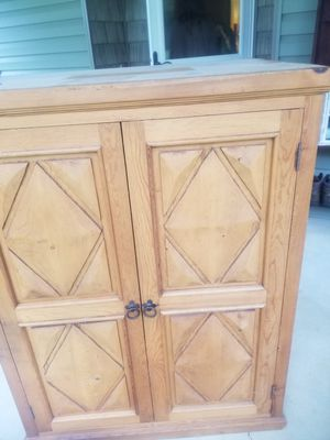 Cabinet with metal stand for Sale in Walnut Cove, NC