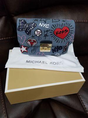 Brand new authentic Michael kors Sloan editor denim shoulder bag for Sale in Edmonds, WA