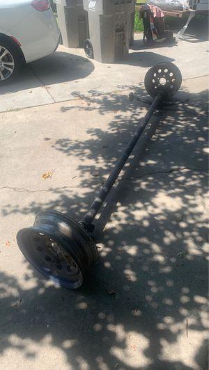 Trailer axle and rims for Sale in Clovis, CA