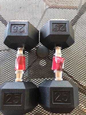 Dumbbells pair 25 for Sale in Biscayne Park, FL