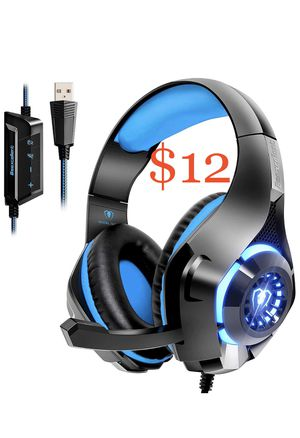 Beexcellent USB Gaming Headset for PC, 7.1 Surround Sound Computer Gaming Headphone for Sale in La Puente, CA