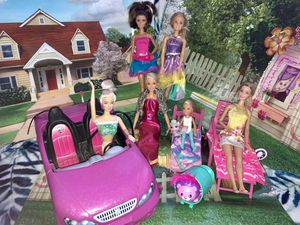 Doll set with furniture and car for Sale in Alameda, CA