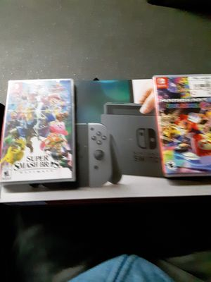 Nintendo Switch with Mario Kart and Smash Bros for Sale in Denver, CO