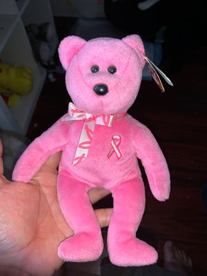 Ty pink cancer awareness bear for Sale in Downey, CA