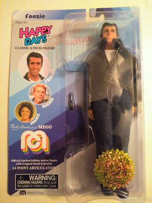 "COLLECTIBLE 2018 LIMITED EDITION MEGO TV FAVORITES HAPPY DAYS FONZIE 8"" ACTION FIGURE for Sale in El Mirage, AZ"