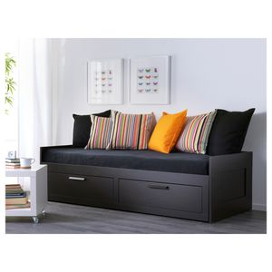 Black Twin Size Bed Frame With 2 Drawers and trundle for Sale in Salem, OR