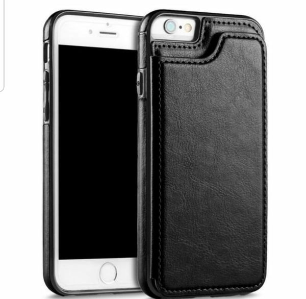 High- Grade Business Men Women Magnetic Leather Wallet Case Card